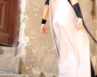 New Collection XXL,XXXL Maxi Dress / Black and Ivory Kaftan / Extravagant Long  Dress / Party Dress / Daywear Dress by AAKASHA A03210