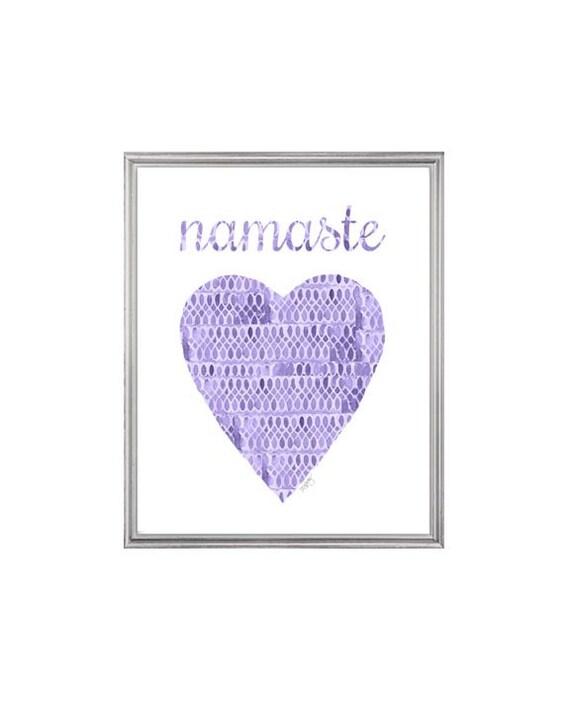 Namaste Watercolor Print for Yoga Studio