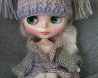 Tassel Hat for Blythe Doll.  Choose your colorway Shown in Springtime