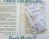 Book Marks, Fabric Library Card, Library Cards, Library, Retro, Card Catalog, Books, Gifts, Book Club, Old Fashioned, Checking You Out