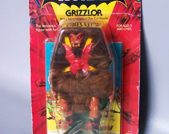 Vintage He-Man Grizzlor (MOC) New in Package C8 Unpunched