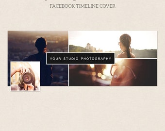 Facebook Timeline Cover - Facebook Timeline Template - PSD Template - Customize Facebook Page - Instant Download - F216