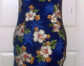 1980s Pacific Legend - Hawaiian Shift Dress  - Sun Dress - Cotton - Size L