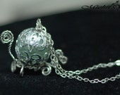 Sale: Disney Princess Cinderella Inspired Carriage Necklace