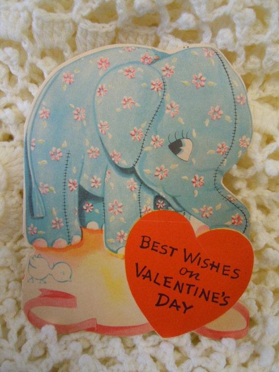 Valentine S Day Vintage Toys : S vintage valentine cards elephant card