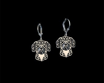 Puggle earrings - sterling silver.