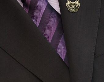 Yorkshire Terrier brooch - gold.