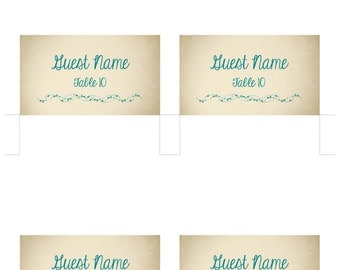 Escort card template | Etsy