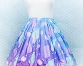 Sugar Pop Novelty Ice Cream, Skater Skirt, Kawaii, Fairy Kei Clothing, Vaporwave, Aesthetic, Plus Size, Pastel Grunge