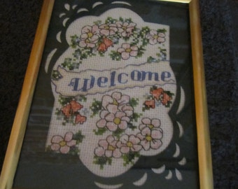Welcome Cross Stitch Sampler