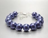 Navy Blue Bracelet, Navy Bridesmaid Jewelry, SALE, Bridesmaids Gift, Sapphire Blue Bridal Jewelry, Chunky Bracelet