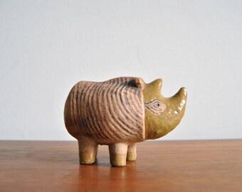 ON SALE Rhino Lisa Larson Figurine