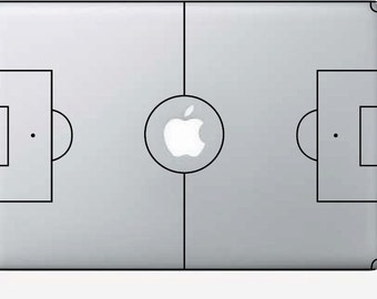Macbook Decal Soccer Field - Macbook Stickers - Macbook Air Decals - Macbook Pro Stickers -Laptop Decal - Laptop Stickers - Stickers Macbook