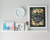 Kitchen Chalkboard Art - Chalk Art - Kitchen Art - Chalkboard Art - Fresh Start- Motivational Print - Kitchen Print - Hand Lettered Art