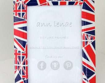 Union Jack Picture Frame | Union Flag Duct Tape Print Photo Frame