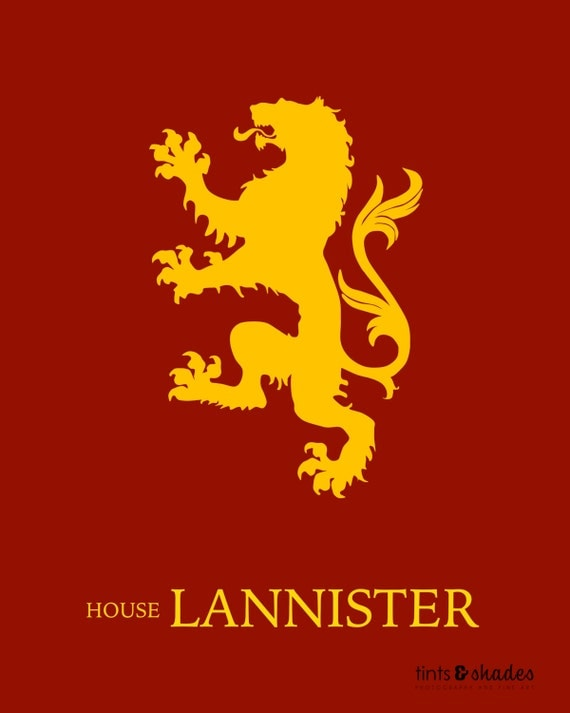Game of Thrones House Lannister Minimalist by ...
