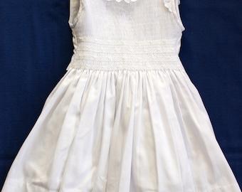 Hand smocked white dress