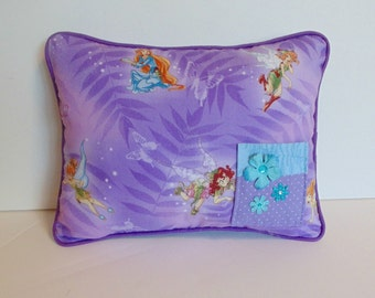 Tinkerbell Pillow, Tooth Fairy Pillow,Girls Tooth Pillow, Disney Tooth Fairy Pillow, Can Be PERSONALIZED