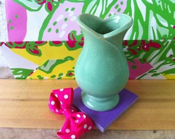 Vintage Camark Satin Light Green Tulip Vase, Art Deco Design, American Art Pottery,  Cabinet Vase, Ceramics, FREE SHIPPING