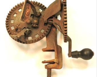 Apple Peeler Mechanical Primitive Antique Hudson Parer Co. Leominster, Mass.