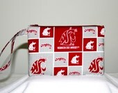 Washington State Cougars Wristlet Pouch or Cross Body Bag, iPod, Smart Phone Bag,  Digital Camera Bag, Small Tech Bag