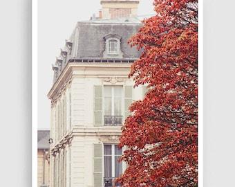 Versailles photography - Autumn - Art,Paris photo,Fine art photography,Paris decor,wall art,art print,Posters,home decor,red,purple