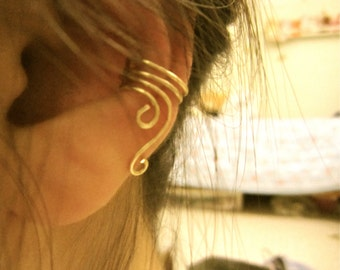 Free-Form Ear Cuff - gold or silver