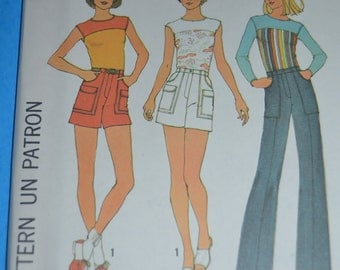 Simplicity 7528 Misses  Pullover Top Pants or Shorts Sewing Pattern - UNCUT - Sizes 6 & 8