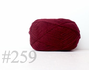 WOOL yarn 100%-knitting yarn -  dark marsala #259