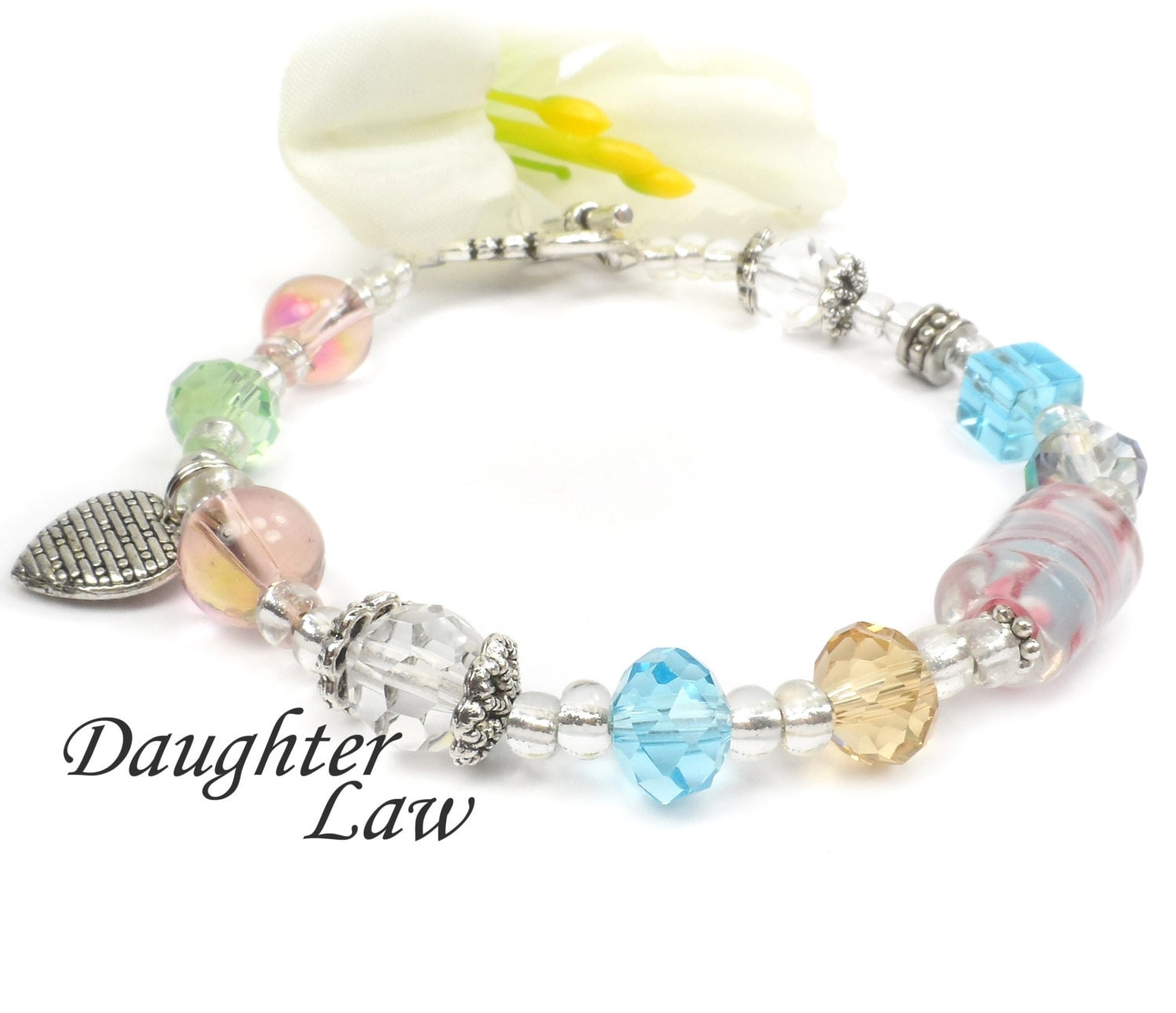 Unique Wedding Gifts For Son And Daughter In Law : Daughter in Law Bracelet Unique Gift For Sons by ABeadedStory