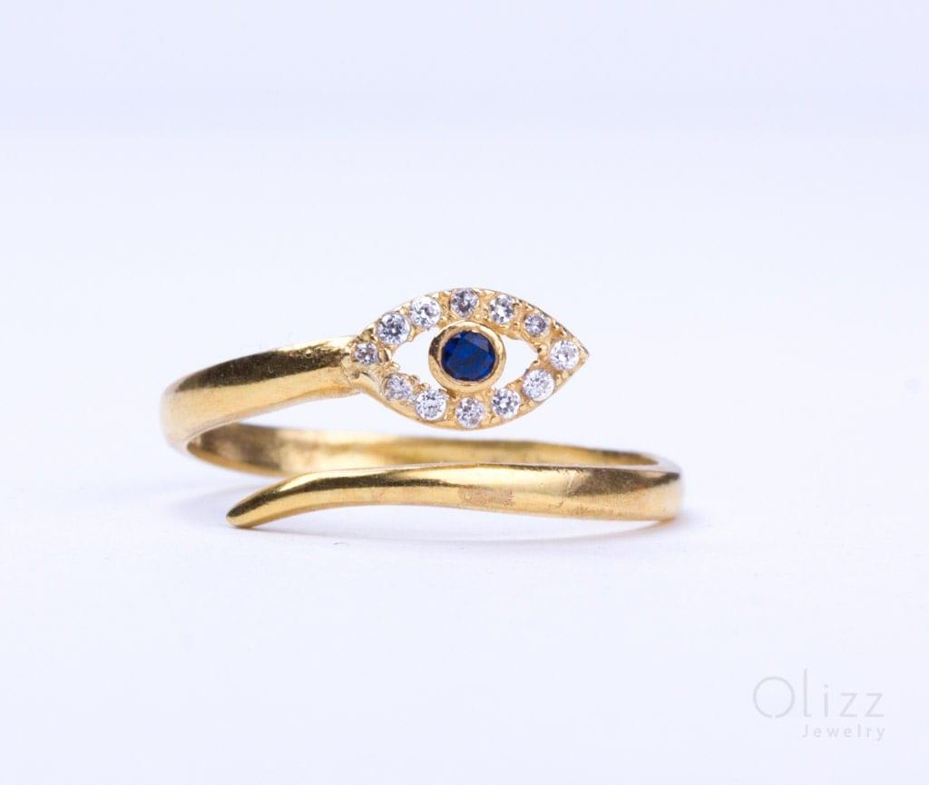evil eye ring gold ring sterling silver evil eye ring