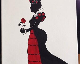 Queen of Hearts Alice in Wonderland painting