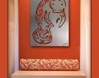 Manatee Wall Art, Manatee Sculture, Manatee Metal Wall Art,  Metal Wall Art
