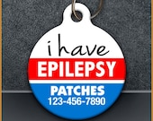 I Have Epilepsy Medical PET ID TAGS
