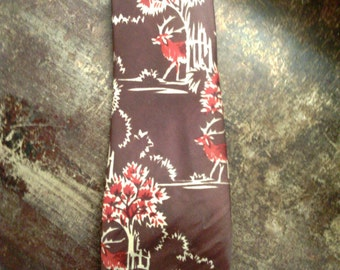 """VINTAGE 1940's """"SWING"""" men's neck tie, check the photos for color combination, brand tag, and condition."""