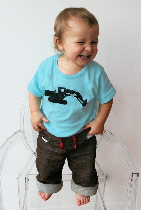 Baby, Toddler, Child T Shirt, Digger T Shirt, JCB Digger, Boy T Shirt, Toddler T Shirt, Children T-Shirt, Age 4-6 - DIGGER T SHIRT