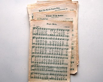 Vintage Christmas, Holiday Sheet Music Pack, 5 Pages