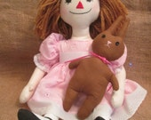 Annie with her Bunny Primitive Ragdoll