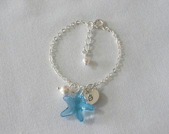 Flower Girl Bracelet, Beach Wedding, Destination Wedding, Child's Pearl Bracelet, Junior Bridesmaid Bracelet Wedding Jewelry