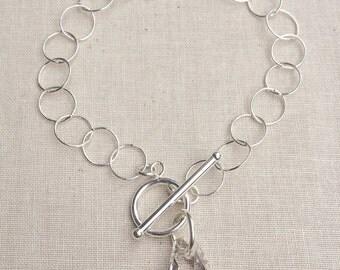 Janice~ Sterling Silver & Swarovski Crystal Bracelet~Silver Shade