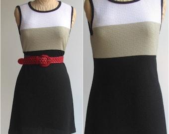 Vintage Sleeveless Shift Dress / 1980s LaBelle Dress -- medium
