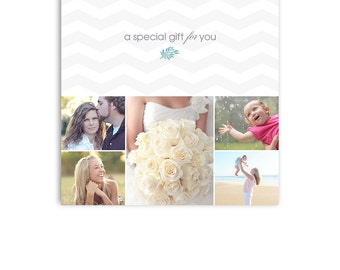 Photographer Gift Certificate - 5x5 Photoshop Template - 1191