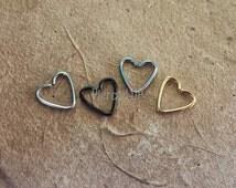 Daith Heart Ear Piercing Ring (4 COLORS) - 16g SALE