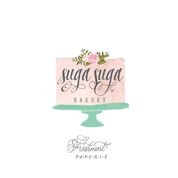Cake Decorating Logo Designs : customized logo cursive logo logo design calligraphy