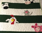 Farm Animal Baby Quilt, Custom Order