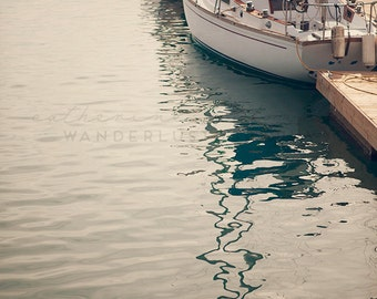 Dana Harbor - Photographic Print -  California, Bohemian, Dana Point, boho, chic, blue,  Photograph, Wall, Art, Hanging,