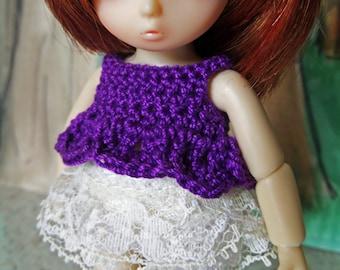 Crochet Chi Short top for AI BJD