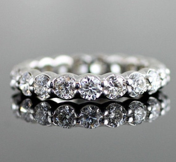 Scalloped Eternity Diamond Band