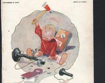 Vintage Magazine Cover - Life, September 6, 1923  (237)