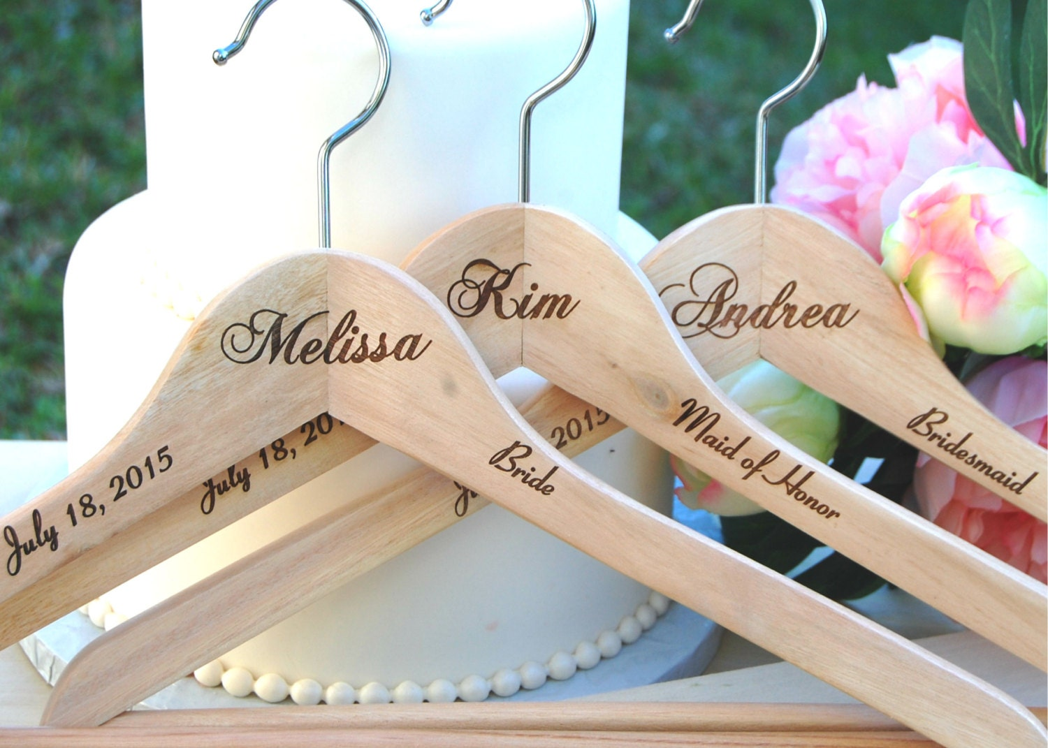 Wedding Gifts From Bridesmaids: Personalized Bridesmaid Hanger Engraved Wedding Gift 6